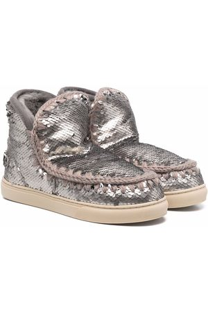 Mou TEEN sequin-embellished boots