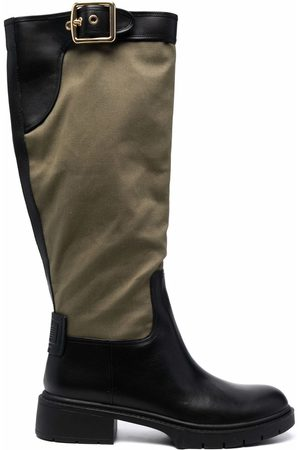 Coach Panelled leather boots
