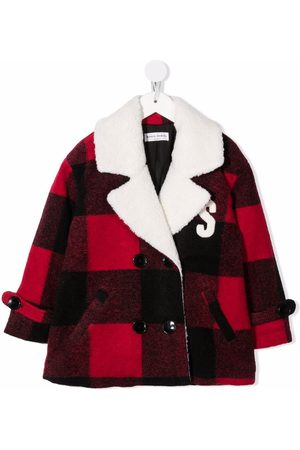 Sonia Rykiel Enfant Check double-breasted coat