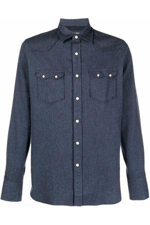 LARDINI Long-sleeved denim shirt