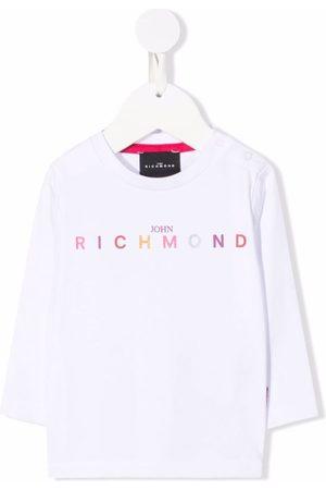 John Richmond Junior Logo-print long-sleeved T-shirt