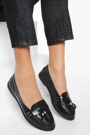 Boohoo Womens Tassel Detail Pu Loafers - - 5