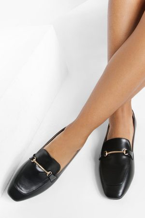 Boohoo Women Loafers - Womens Gold Bar Detail Loafers - - 5