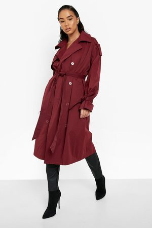 Boohoo Women Trench Coats - Womens Tie Cuff Double Breasted Trench Coat - - 4