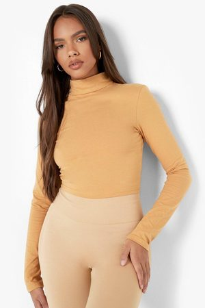 Boohoo Womens Basic High Neck Long Sleeve Crop - - 2