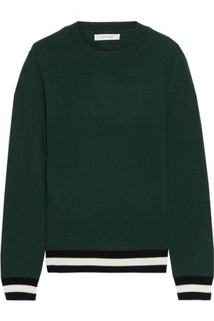 Chinti & Parker Women Sweaters - Woman Striped Wool And Cashmere-blend Sweater Forest Size L