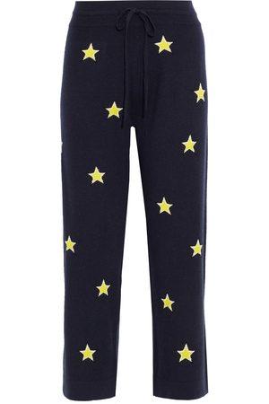 Chinti & Parker Women Sweatpants - Woman Cropped Intarsia Wool And Cashmere-blend Track Pants Size L