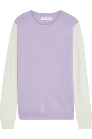 Chinti & Parker Women Sweaters - Woman Two-tone Wool And Cashmere-blend Sweater Lavender Size L