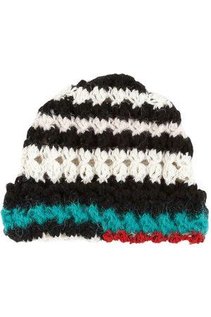 Marni Men Beanies - Crocheted stripped beanie