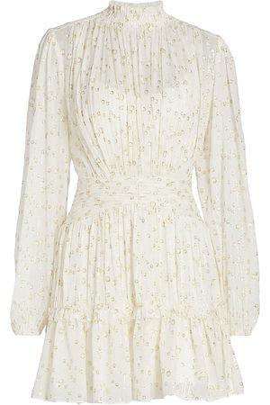 Ml Monique Lhuillier Women Evening dresses - Metallic Fil Coup Minidress