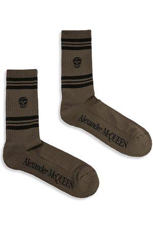 Alexander McQueen Men Socks - Skull Striped Socks