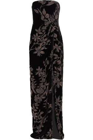 THEIA Women Printed Dresses - Janette Strapless Floral Gown