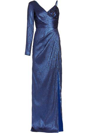 THEIA Babette Asymmetric Lam Gown