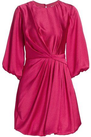 Ml Monique Lhuillier Women Evening dresses - Satin Puff Sleeve Minidress