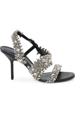 Alexander McQueen Crystal-Embellished High-Heel Sandals