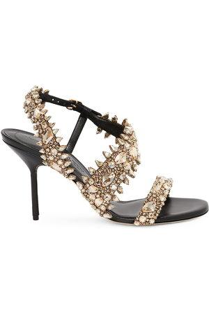 Alexander McQueen Women Heeled Sandals - Crystal-Embellished High-Heel Sandals