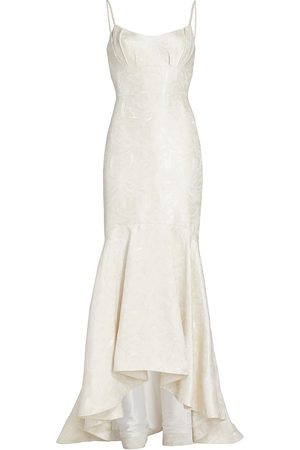 Ml Monique Lhuillier Women Evening dresses - Faux Pearl Strap Gown