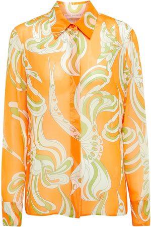 Emilio Pucci Printed chiffon shirt