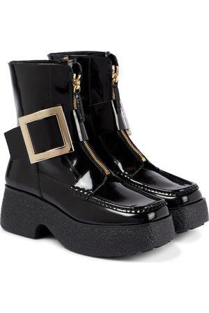 Roger Vivier Women Ankle Boots - Viv' Clog patent leather ankle boots