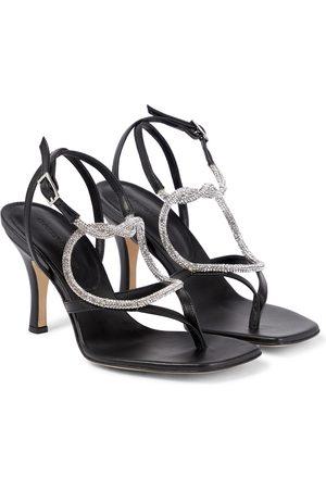 CHRISTOPHER ESBER 80 crystal-embellished leather sandals