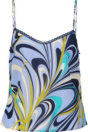 Emilio Pucci Women Camisoles - Lace-trimmed printed camisole