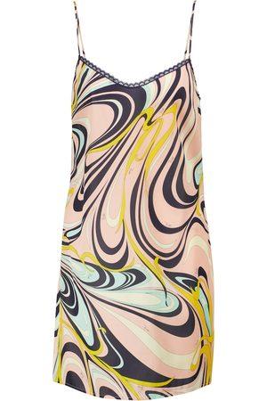Emilio Pucci Printed silk-blend satin minidress