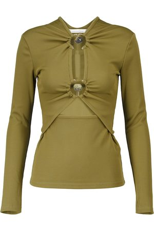 CHRISTOPHER ESBER Cutout ribbed-knit top