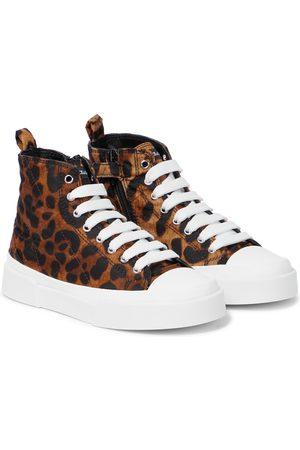 Dolce & Gabbana Portofino leopard-print canvas sneakers