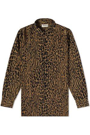 Saint Laurent Men Shirts - Leopard Print Shirt