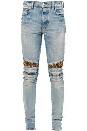 AMIRI Mx2 Snakeskin-panel Slim-leg Jeans - Mens