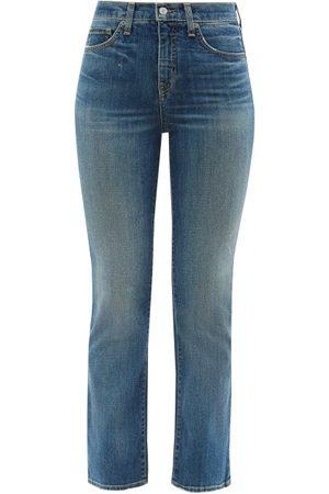 NILI LOTAN High-rise Flared-leg Jeans - Womens - Denim