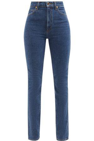 Khaite Daria High-rise Slim-leg Jeans - Womens - Denim