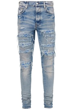 AMIRI Bandana Thrash Distressed Skinny Jeans - Mens