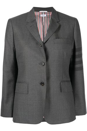 Thom Browne Women Blazers - 4-Bar single-breasted blazer - Grey