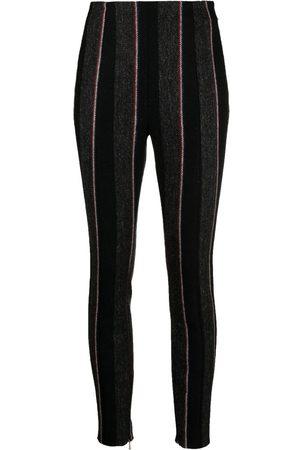 Thom Browne Women Leggings - Vertical-stripe leggings