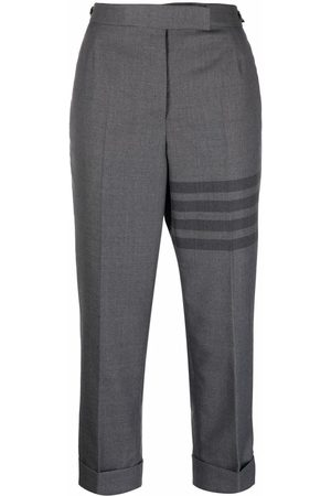 Thom Browne Women Pants - 4-Bar cropped trousers - Grey