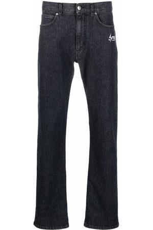Stella McCartney Straight-leg logo-print jeans - Grey