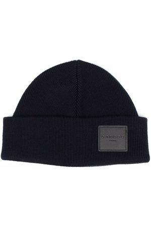 Sandro Logo patch beanie hat