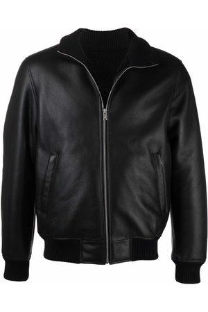 Sandro Men Leather Jackets - High neck bomber jacket