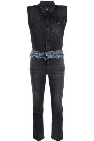 Pinko Women Jeans - Raw-cut denim jumpsuit