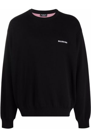 Balenciaga Men Sweatshirts - Intarsia logo jumper
