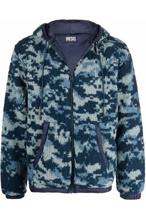 Diesel Camouflage-print fleece jacket