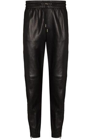 Saint Laurent Men Sweatpants - Zipped ankles tapered track pants