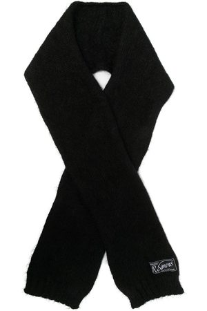 RAF SIMONS Scarves - Knitted ribbed-edge scarf