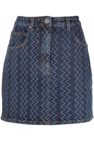 M Missoni Women Pencil Skirts - Zig-zag denim skirt