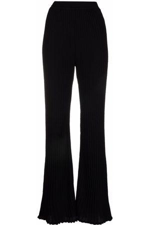 M Missoni Women Leggings - Knitted flare trousers