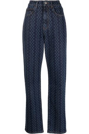 M Missoni Women Tapered - Zig-zag wide-leg jeans