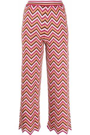 M Missoni Women Leggings - Zig-zag knitted trousers