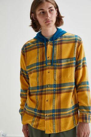 Without Walls Men Jackets - Ikat Plaid Hooded Overshirt