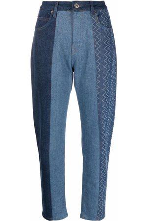 M Missoni Women Straight - Straight-leg patchwork jeans